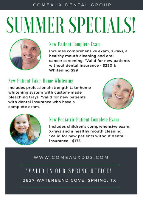 Comeaux Dental Group Summer Specials